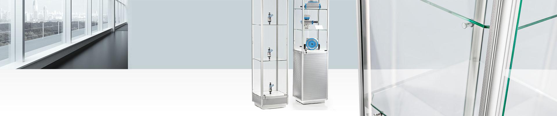 vitrinen im faisst shop kaufen faisst koffershop. Black Bedroom Furniture Sets. Home Design Ideas